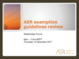 AER exemption guidelines review