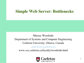 Simple Web Server: Bottlenecks