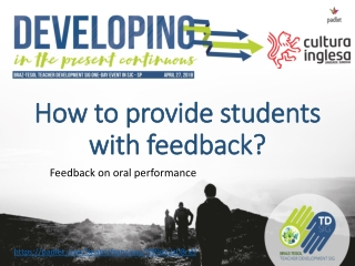 How to provide students with feedback?