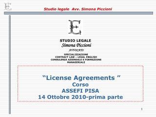 Studio legale  Avv. Simona Piccioni