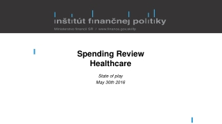 Spending Review Healthcare