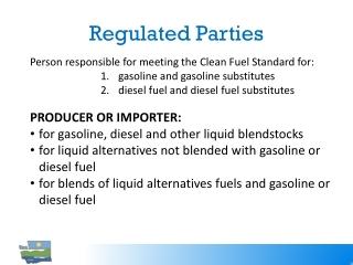 Regulated Parties