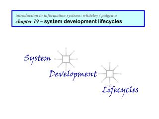 introduction to information systems: whiteley / palgrave chapter 19  – system development lifecycles