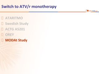 Switch to ATV/r monotherapy