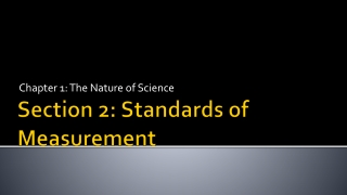 Section 2: Standards of Measurement