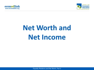 Net Worth and Net Income