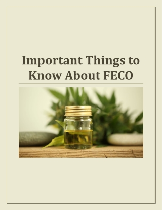 Important Things to Know About FECO