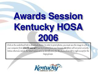 Awards Session Kentucky HOSA 2006