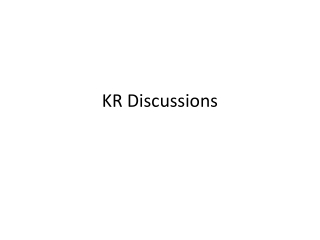 KR Discussions