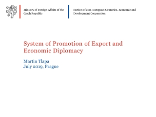 System of Promotion of Export and Economic Diplomacy