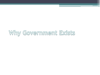 Why Government Exists