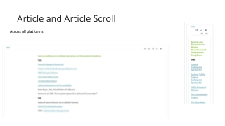 Article and Article Scroll