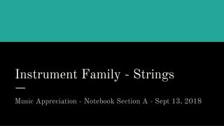 Instrument Family - Strings