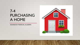 7-4 Purchasing a Home