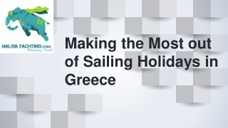 Making the Most out of Sailing Holidays in Greece