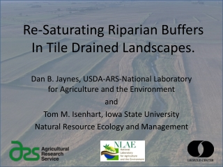Re-Saturating Riparian Buffers In Tile Drained Landscapes.