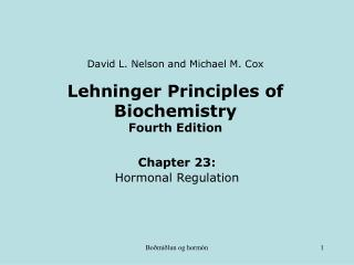 Lehninger Principles of Biochemistry Fourth Edition