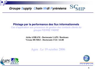 Pilotage par la performance des flux informationnels  Cas d application aux processus de gestion des contacts clients du
