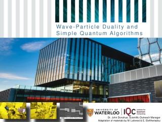 Wave-Particle Duality and Simple Quantum Algorithms