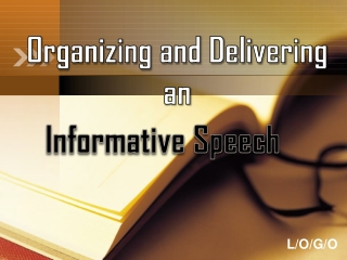 Organizing and Delivering an