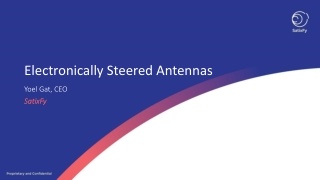 Electronically Steered Antennas