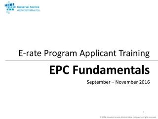 EPC Fundamentals