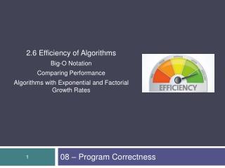 08 – Program Correctness