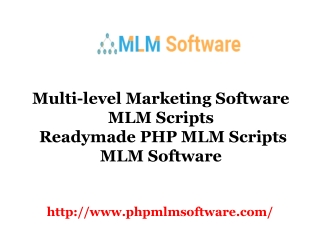 Readymade PHP MLM Scripts