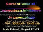 Current uses of   aromatase inhibitors   in gynecology