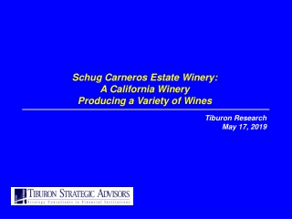Schug Carneros Estate Winery: A California Winery Producing a Variety of Wines