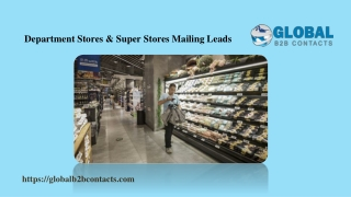 Department Stores & Super Stores Mailing Leads