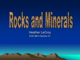Heather LeCroy ECE 8814 Section 01