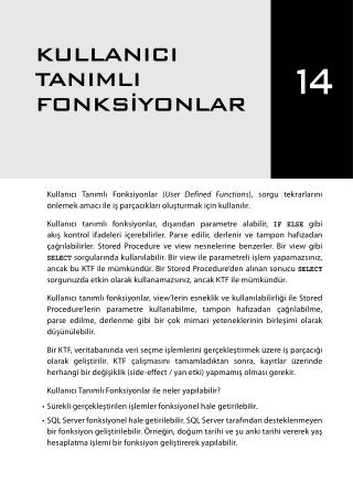İleri Seviye T-SQL Programlama - Chapter 14