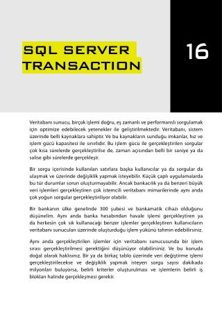 İleri Seviye T-SQL Programlama - Chapter 16