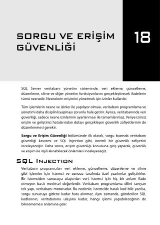 İleri Seviye T-SQL Programlama - Chapter 18