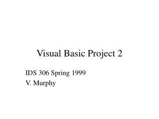 Visual Basic Project 2