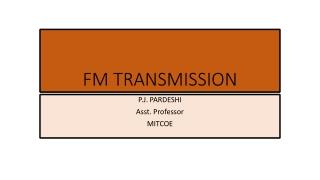 FM TRANSMISSION