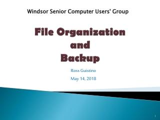 File Organization and Backup
