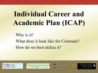 Individual Career and Academic Plan (ICAP)
