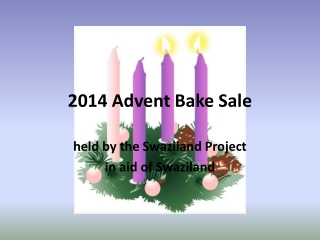 2014 Advent Bake Sale