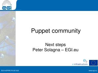 Puppet community