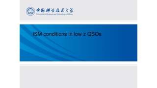 ISM conditions in low z QSOs