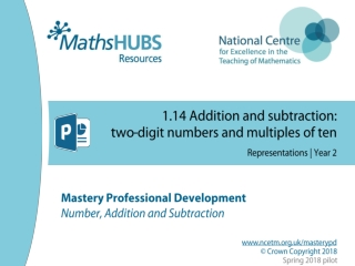 1.14 Addition and subtraction: two-digit numbers and multiples of ten