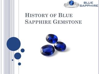 History of Blue Sapphire Gemstone
