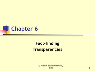 Fact-finding Transparencies