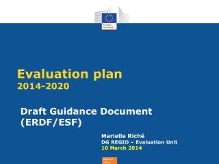 Evaluation plan 2014-2020