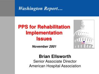 PPS for Rehabilitation Implementation Issues November 2001