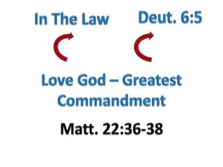 Love God – Greatest Commandment