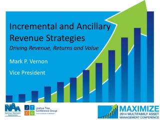 Incremental and Ancillary Revenue Strategies