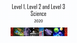 Level 1, Level 2 and Level 3 Science